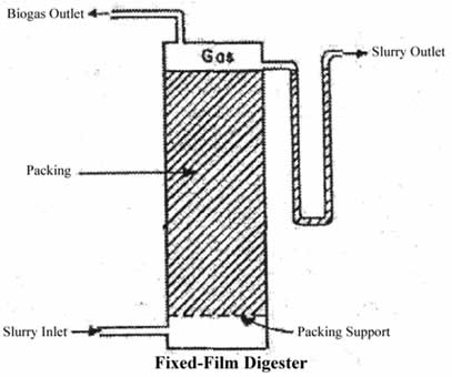 Fixed-film biogas digester
